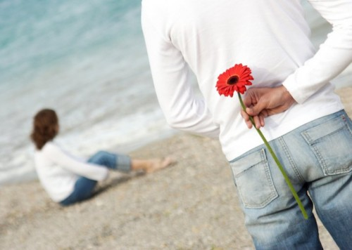 amore, corteggiare, uomo, donna